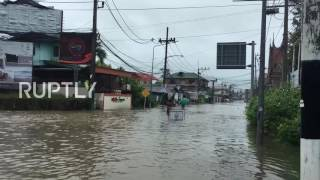 Thailand: Flooding kills 19 and leaves thousands stranded in southern Thailand