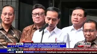 Jokowi Perintahkan Usut Tuntas Penyerangan Wiranto