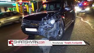 Ավտովթար Երևանւմ  Երևանյան լճի կամրջի վրա բախվել են Mitsubishi Pajero ն ու Volkswagen ը