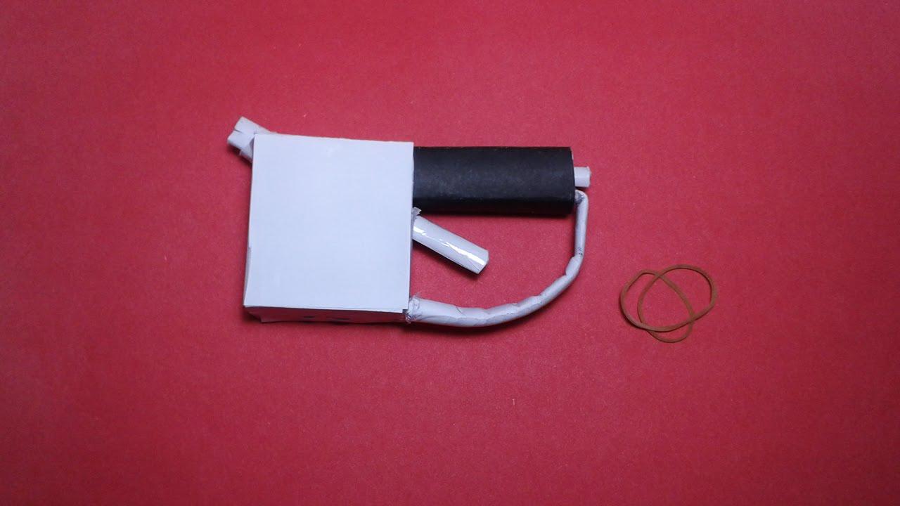 diy  how to make a paper mini '' penguİn gun'' that