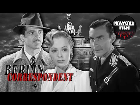 CLASSIC THRILLER MOVIES: Berlin Corespondent (1942) | Full Length Black and White movie for free