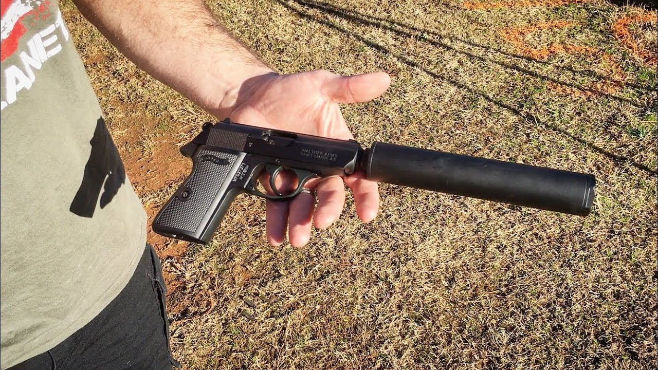 Suppressed Walther PPK/S .22lr - YouTube