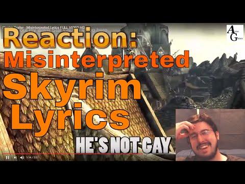 Airier Reaction: Skyrim Trailer - Misinterpreted Lyrics