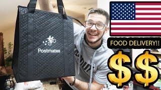 اشتغلت توصيل طعام بامريكا شوفوا كم جمعت$$