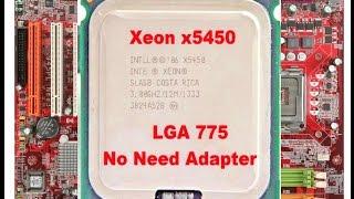 Xeon X5450 мощный процессор с адаптером  на сокет 775 с АлиЭкспресс за 18$
