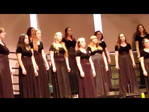 Nevada Union high school chamber choir performing at Chico State University in Chico California