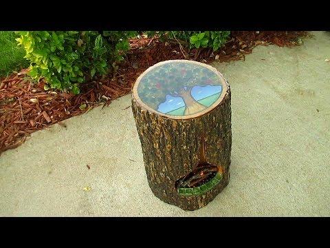 Make a Tree Stump Side Table