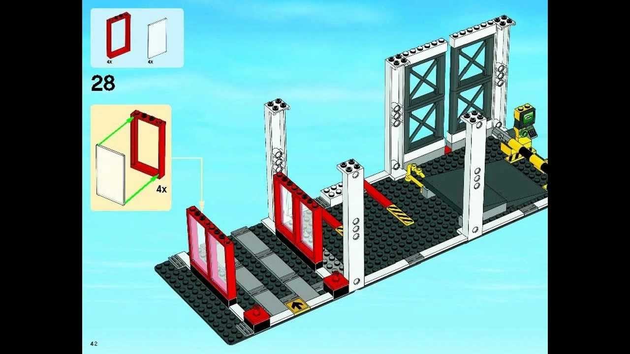 Lego City Instructions For 4207 City Garage 2012 Youtube