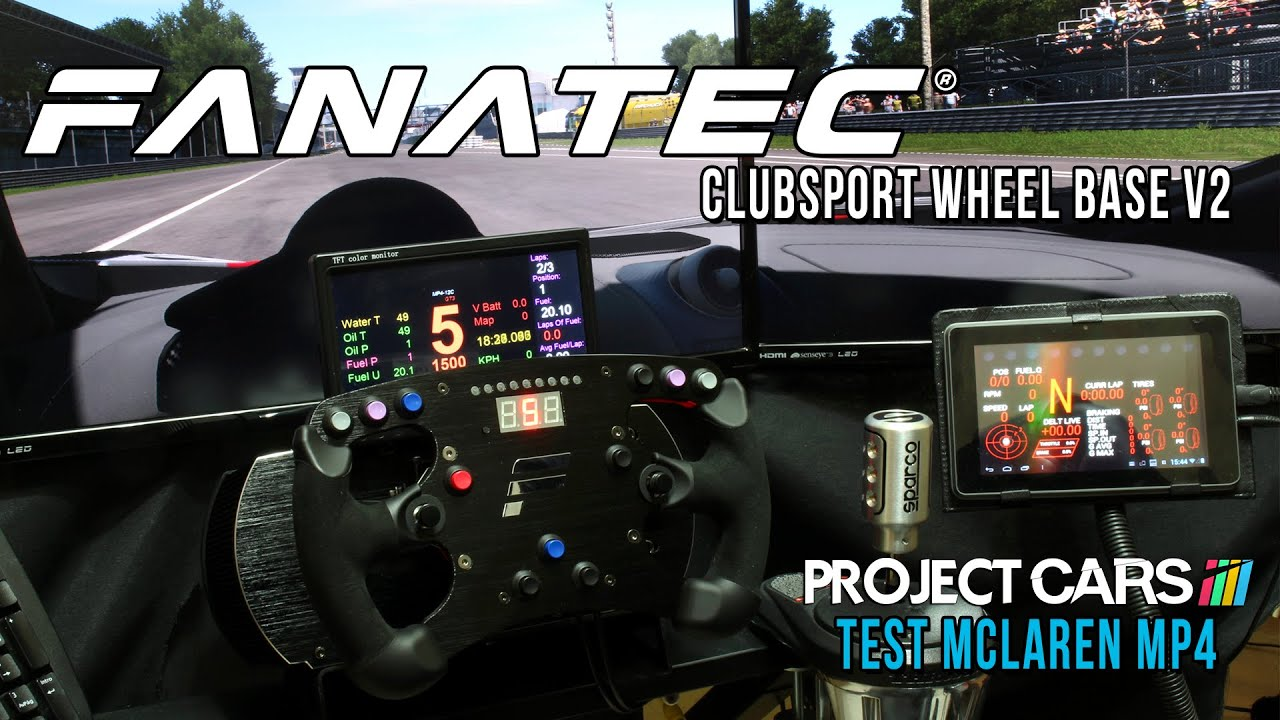 Car Cockpit Wallpaper New Fanatec Clubsport Wheelbase V2 Test Project Cars
