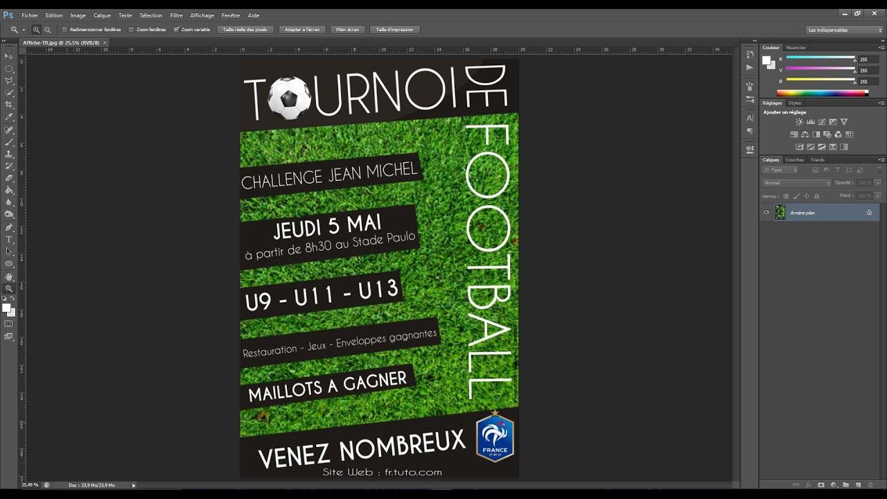 Populaire Tutoriel - Créer une Affiche Publicitaire Photoshop [FR] - YouTube ND18