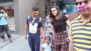 Sunny Leone & Daniel Weber With Their Kids Spotted At Play School