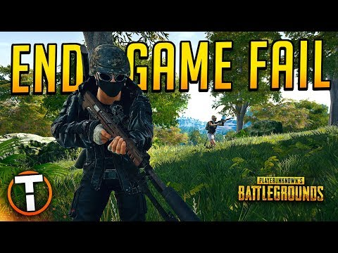 END GAME FAIL - PLAYERUNKNOWN'S BATTLEGROUNDS w/ Aculite