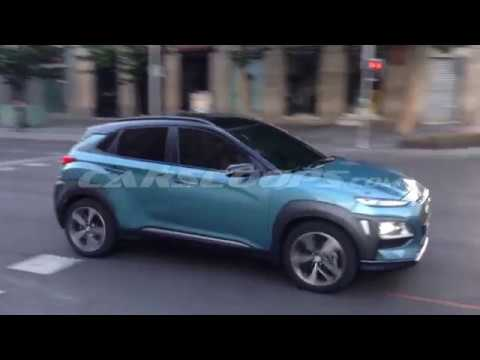 Hyundai Kona Small Suv Captured Completely Undisguised Youtube