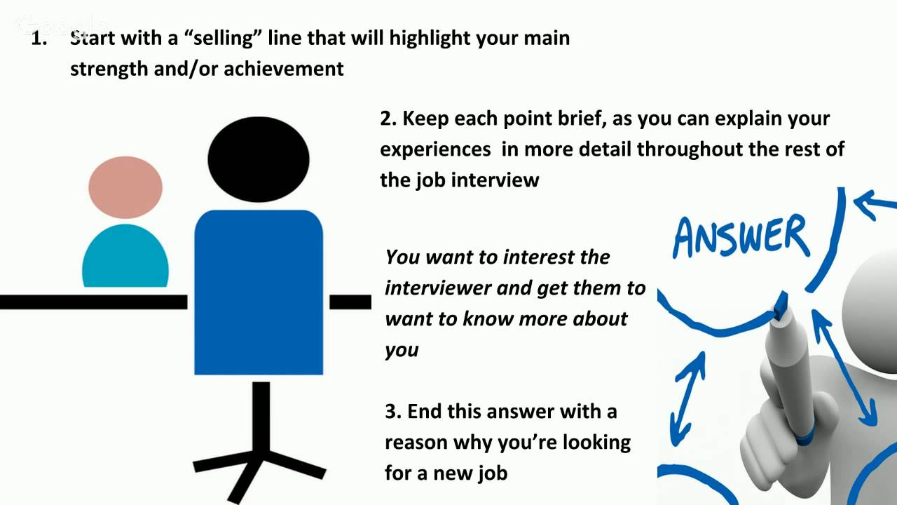 interview question tell me about your experience interview question tell me about your experience