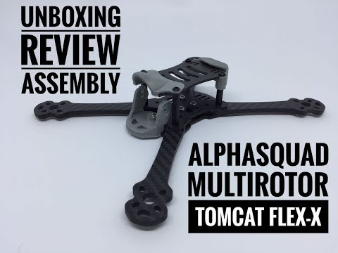 ALPHASQUAD MULTIROTOR TOMCAT FLEX-X Unboxing, Review, Assembly [Bahasa Indonesia]