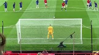 Marcus Rashford penalty - Man Utd v Chelsea - 11.08.2019