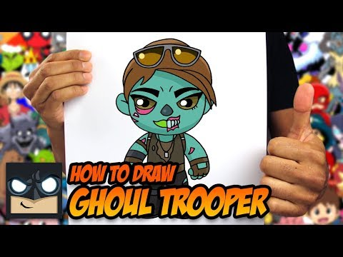 HOW TO DRAW FORTNITE | GHOUL TROOPER | STEP BY STEP TUTORIAL