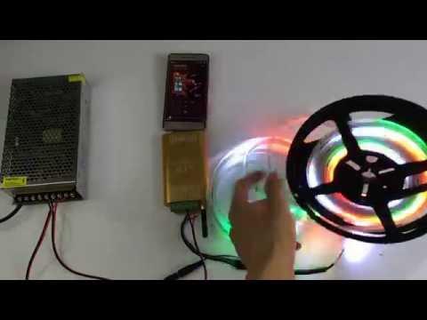 Dream color WIFI music 2048pixel led controller for TM1812 led strip lights