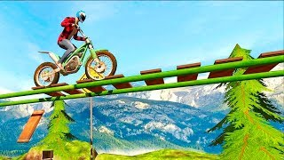 Bike Stunts Racing Free - Gameplay Android free games - Exciting bike stunts game