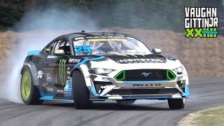 Vaughn Gittin Jr.'s 900HP Supercharged Ford Mustang RTR! - Drifting at Goodwood FOS 2019!