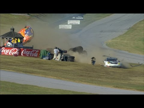 Porsche Goes Airborne - BIG CRASH - VIR - ALMS - Tequila Patron - ESPN - Sports Cars - Racing
