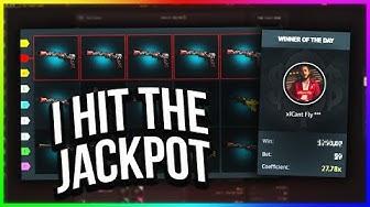 CSGO - I HIT THE JACKPOT ON CSGOFAST! (HUGE WIN)