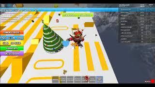 Atingindo a rampa mais épica EVER! ROBLOX Simulador de sprinting 5: Natal