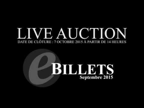 Live auction e-Billets - Septembre 2015 - cgb.fr