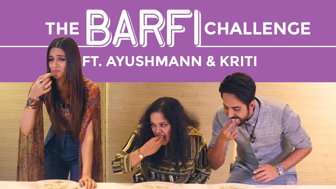 Bareilly Ki Barfi Food Challenge Ft. Ayushmann Khurrana & Kriti Sanon | Sweet Challenge | Pinkvi