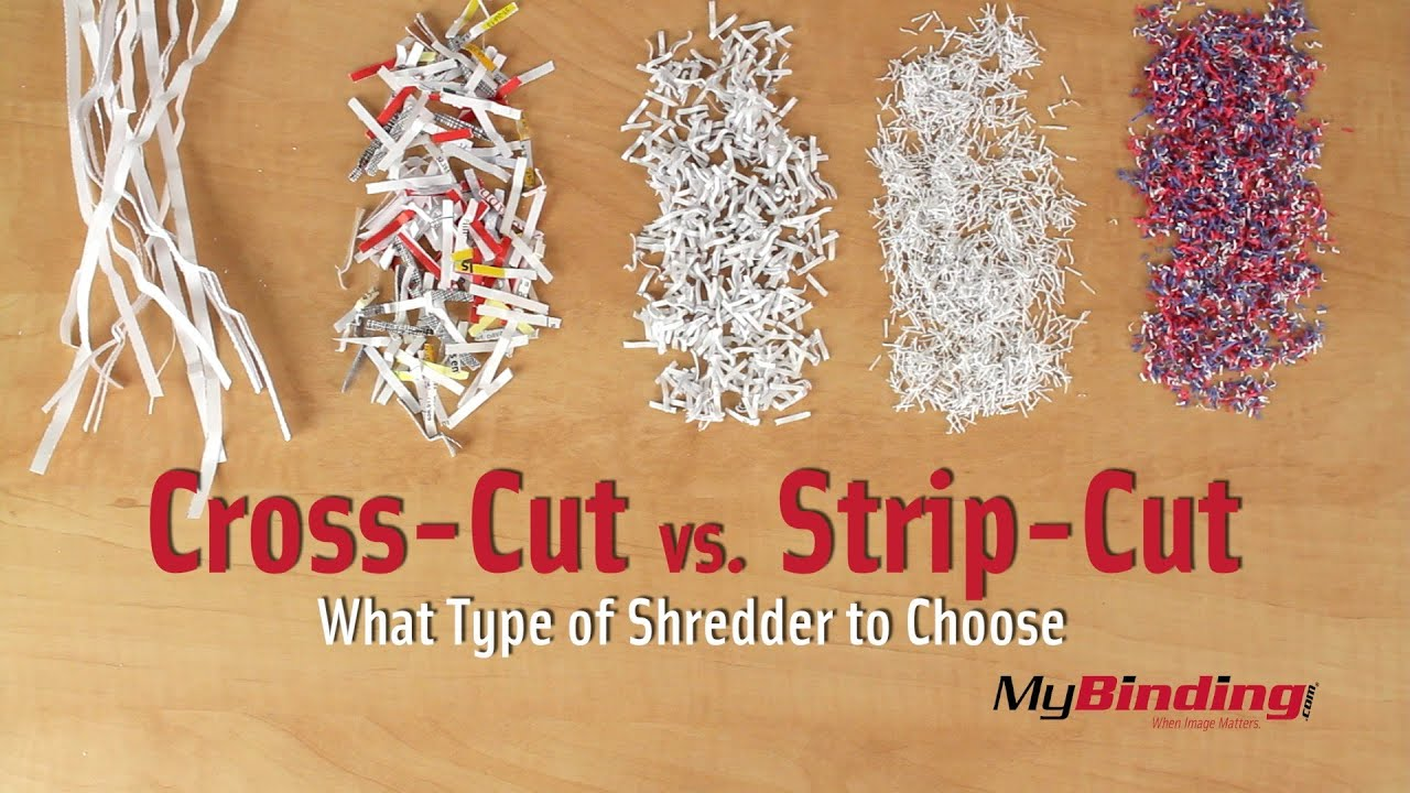 cross cut vs strip cut shredders youtube