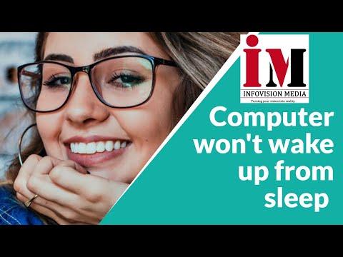 Computer won't wake up from sleep, blank screen after waking up computer from sleep   INFOVISION MED