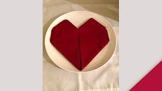 Tonya Haggerty- Napkin Folding, Heart Fold