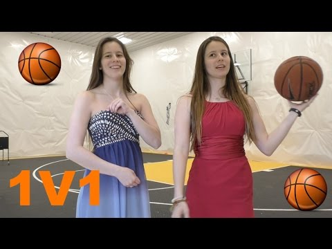PLAYING 1V1 BASKETBALL IN PROM DRESSES