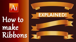 In this Adobe Illustrator Tutorial I show you - How to make Ribbon ...