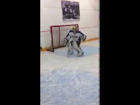 8 Year Old Goalie Hockey Goalie Drills Youtube