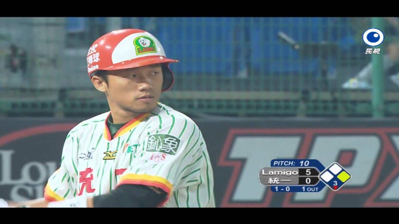 20131110 亞洲職棒大賽熱身賽 統一獅 vs. Lamigo桃猿 - YouTube