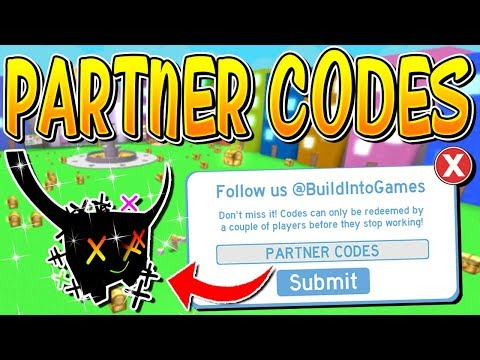 New Partner Codes Are Here In Pet Simulator Roblox Youtube
