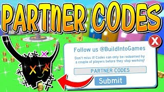 NEW PARTNER CODES ARE HERE IN PET SIMULATOR! (Roblox)