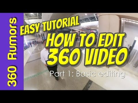 EASY tutorial on how to edit a 360 VIDEO - Part 1: Basic editing (on Magix Movie Edit Pro Plus 2018)