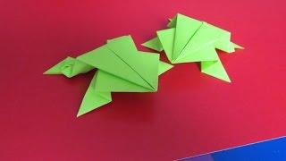 лягушка из бумаги своими руками видео