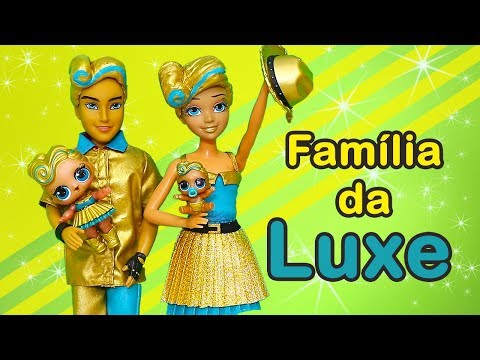 Brinquedonovelinhas Abrindo LOL Under Wraps Com a Família da Luxe e a Mulher Maravilha