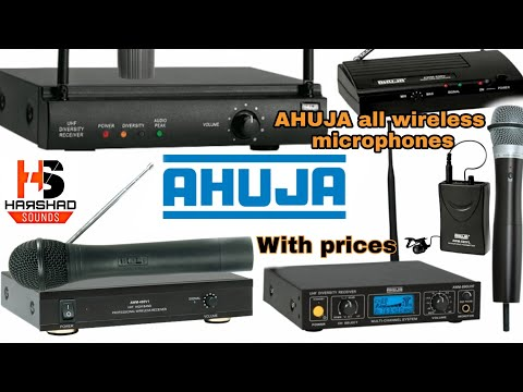 🔥AHUJA🔥 All Wireless Microphones With Prices Included