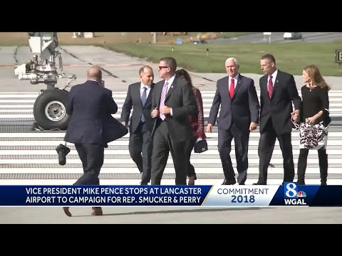 VP Mike Pence Arrives At Lancaster Airport