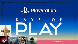 PS4 NA Days of Play Sale [Play Station Store 6/8/2018]