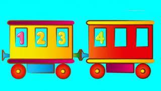Паровозик-развивающий мультик про животных и вагоны поезда