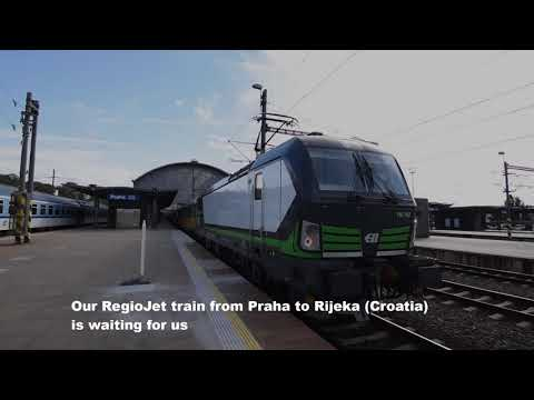 International Regiojet night train from Prague to Rijeka. [Pociąg nocny Regiojet z Pragi do Rijeki]