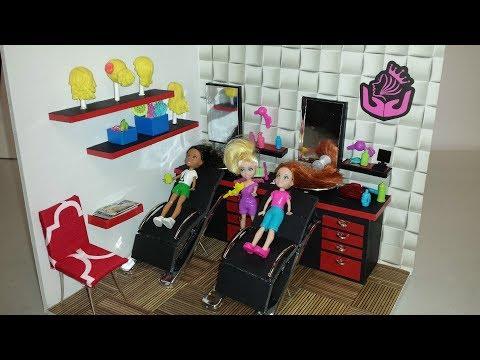 DIY Miniature Doll Salon Room