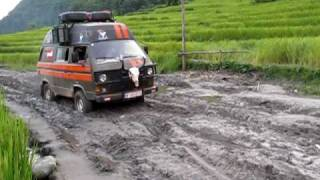 T3 traverses a very muddy road in Nepal thumbnail