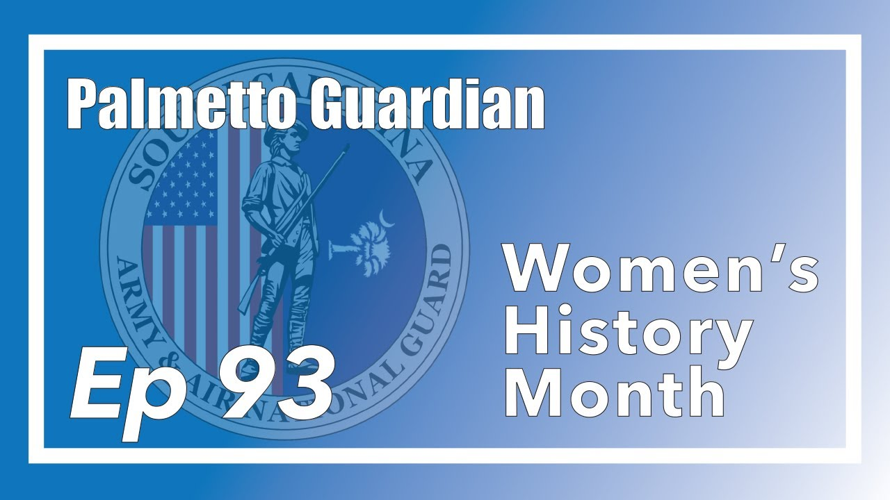 On this episode of the Palmetto Guardian we talk with U.S. Army Sgt. 1st Class Felicia Penn, U.S. Army 1st Lt. Briana Yancey, and retired U.S. Army Brig. Gen. Darlene Goff about Women's History Month and the evolution of women in the military. The Palmetto Guardian is hosted by Sgt. Chelsea Baker with the South Carolina National Guard Public Affairs Office.  0:00 - Intro 0:42 - Who are guest are?  2:10 - Who is retired U.S. Army Brig. Gen. Goff? 3:24 - How does it feel to be the first Brig. Gen in the SCNG? 4:25 - Why do we recognize women's history month?  5:00 - Were there issues with women serving in the military? 7:00 - The history of women in the military  9:25 - How Brig. Gen. Goff feels about women serving in combat roles 11:40 - The diversity and breaking barriers for women in the military  13:45 - What changes did Brig. Gen. Goff encounter over her military career  14:45 - What advice would you give female service members? 18:50 - Female military officers nominated to lead a four star command 21:33 - How to contact WIN or EEO office  SFC Penn Federal Women's Program Manager 802-299-1410  LT Yancey Office of Diversity, Equality and Inclusion 803-299-5390  South Carolina National Guard https://www.scguard.ng.mil/ Youtube https://www.youtube.com/user/SCNationalGuard Facebook https://www.facebook.com/SCGuard/ Instagram https://www.instagram.com/official_scguard/ Twitter https://twitter.com/SCNationalGuard flickr https://www.flickr.com/photos/scguard/ DVIDS  https://www.dvidshub.net/unit/SCNG