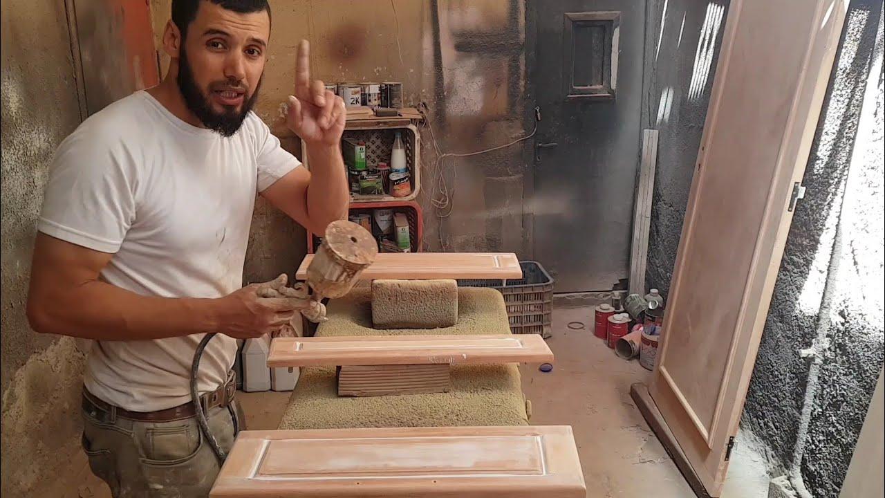 تعلم بنفسك صباغة الخشب القديم اول مرحلة مع النصائح